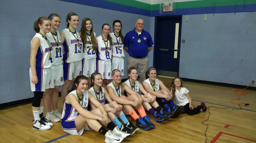 Briers Juvenile Girls win GOLD at Blessed Sacrament  Tournament