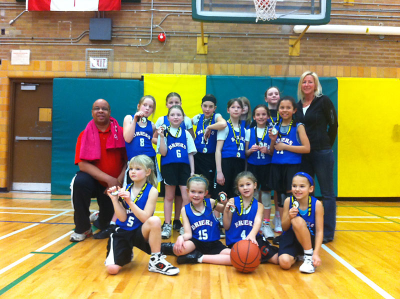 Briers Novice Girls Win Silver at the Blessed Sacrament Tournament - 2012