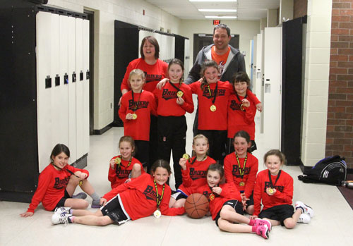 Briers Novice are Gold medal champs Division C at the Blessed Sacrament tournament – Feb. 2014